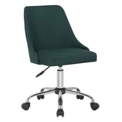Kancelárska stolička, smaragdová/chróm, EDIZ