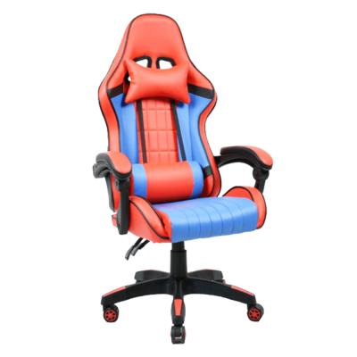Kancelárske/herné kreslo, modrá/červená, SPIDEX