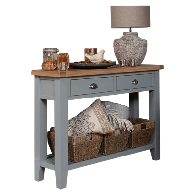 Konzolový stolík, sivá/svetlý orech, JEREVAN