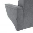 Rozkladacia sedacia súprava, sivá látka, ľavá, SANTIAGO