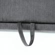 Rozkladacia sedacia súprava, sivá látka, pravá, SANTIAGO