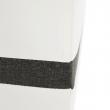 Sedacia súprava, biela/sivá, ľavá, OREGON MALÝ ROH