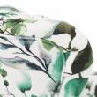 Kreslo ušiak, látka vzor zelené lístie, CHARLOT