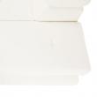 Sedacia súprava s úložným priestorom, biela ekokoža, pravá, BUTON R