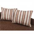 Rozkladacia pohovka, hnedá/vzorované vankúše, ľavá, AGA D