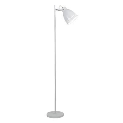 Stojacia lampa, biela/kov, AIDEN TYP 2