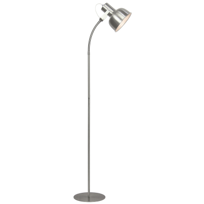 Stojacia lampa v retro štýle, kov, matný nikel, AVIER TYP 2