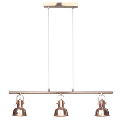 Visiaca lampa v retro štýle, kov, rose gold, AVIER TYP 4