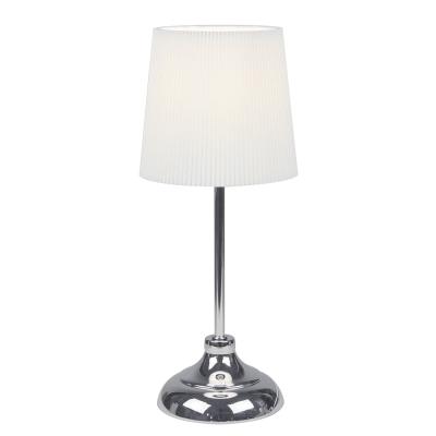 Stolná lampa, kov/biele textilné tienidlo, GAIDEN