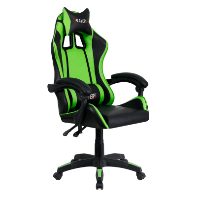 Kancelárske/herné kreslo, zelená/čierna, JAMAR