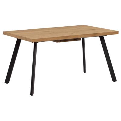 Jedálenský stôl, rozkladací, dub/kov, AKAIKO