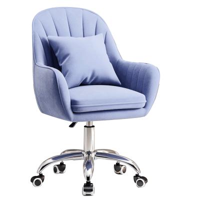 Kancelárske kreslo, modrá Velvet látka/chróm, KLIAN