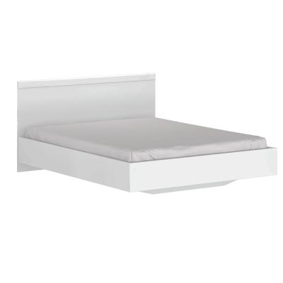 Manželská posteľ, 160x200, biely lesk, LINDY