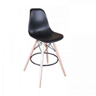 Barová stolička, čierna/buk, CARBRY