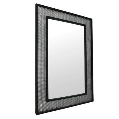 Zrkadlo, strieborná/čierna, ELISON TYP 9